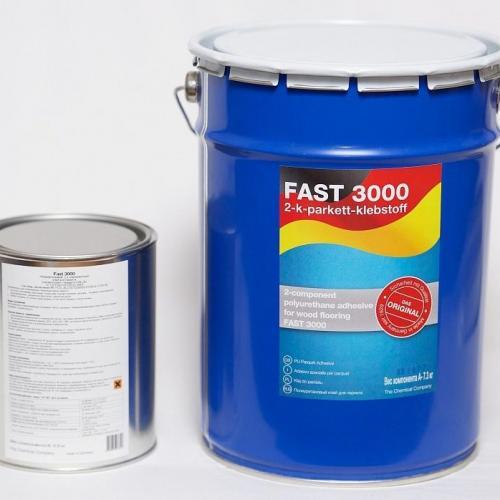Паркетная химия Fast Двухкомпонентный полиуретановый клей для паркета FAST 3000